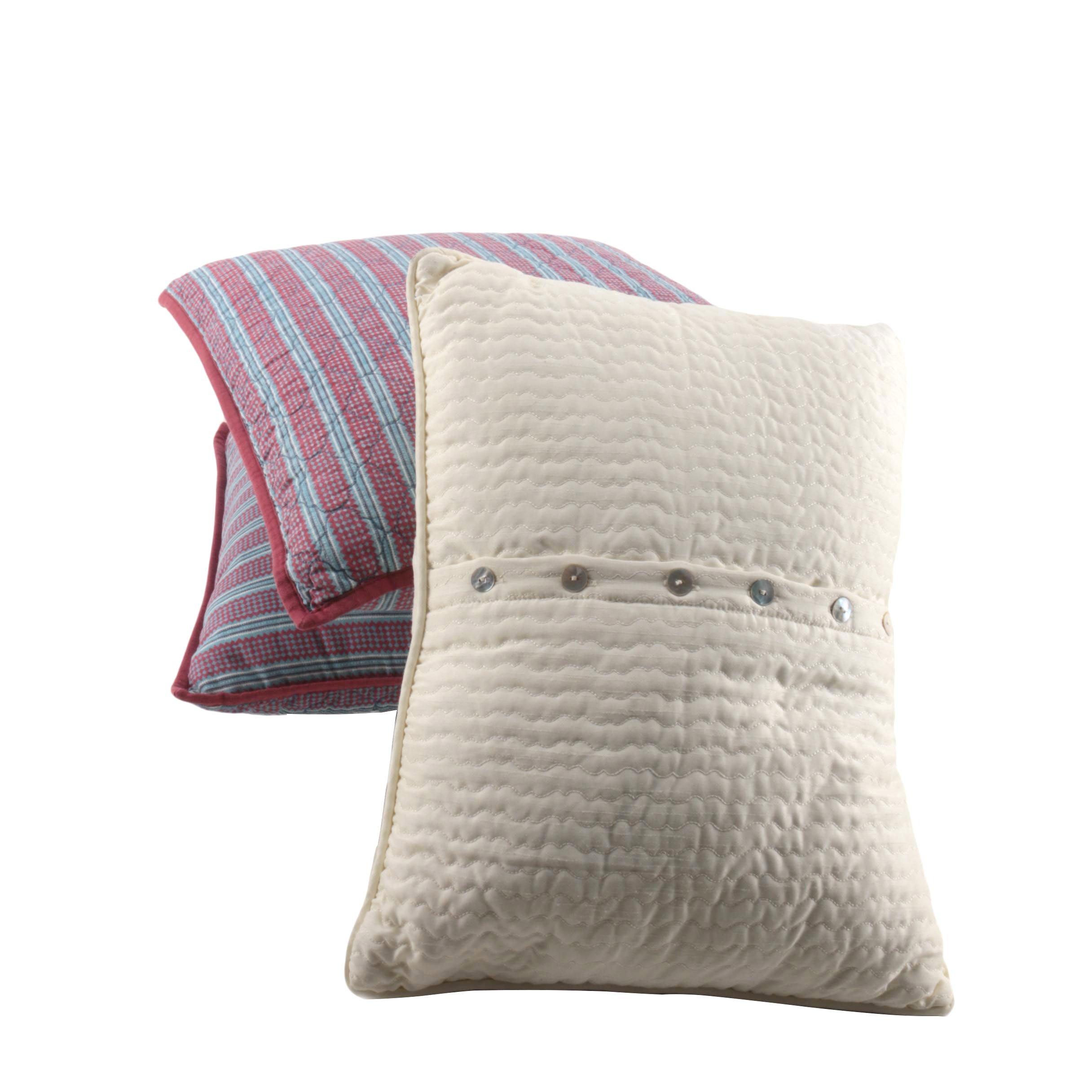 Throw Pillows With Button Closures