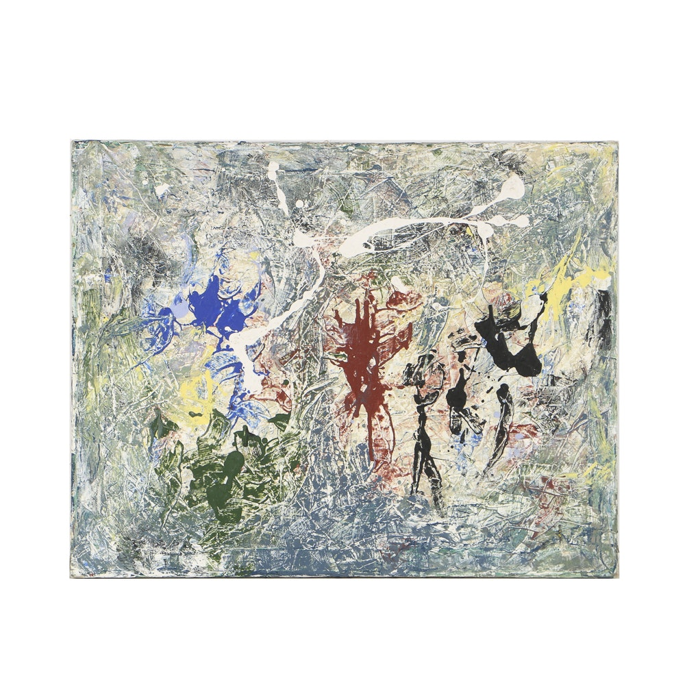 Acrylic Painting on Canvas Abstract Expressionist Style