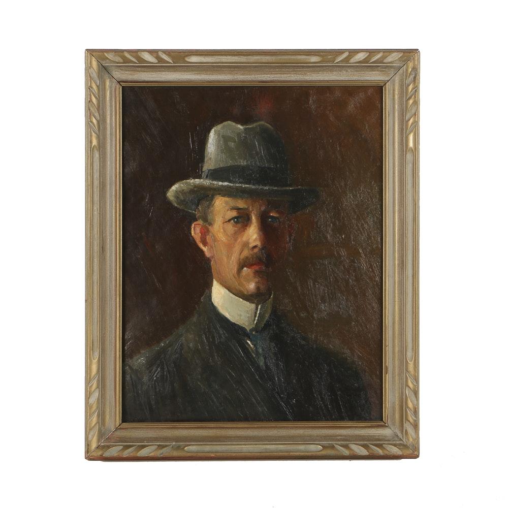 Oil Portrait on Canvas of Gentleman