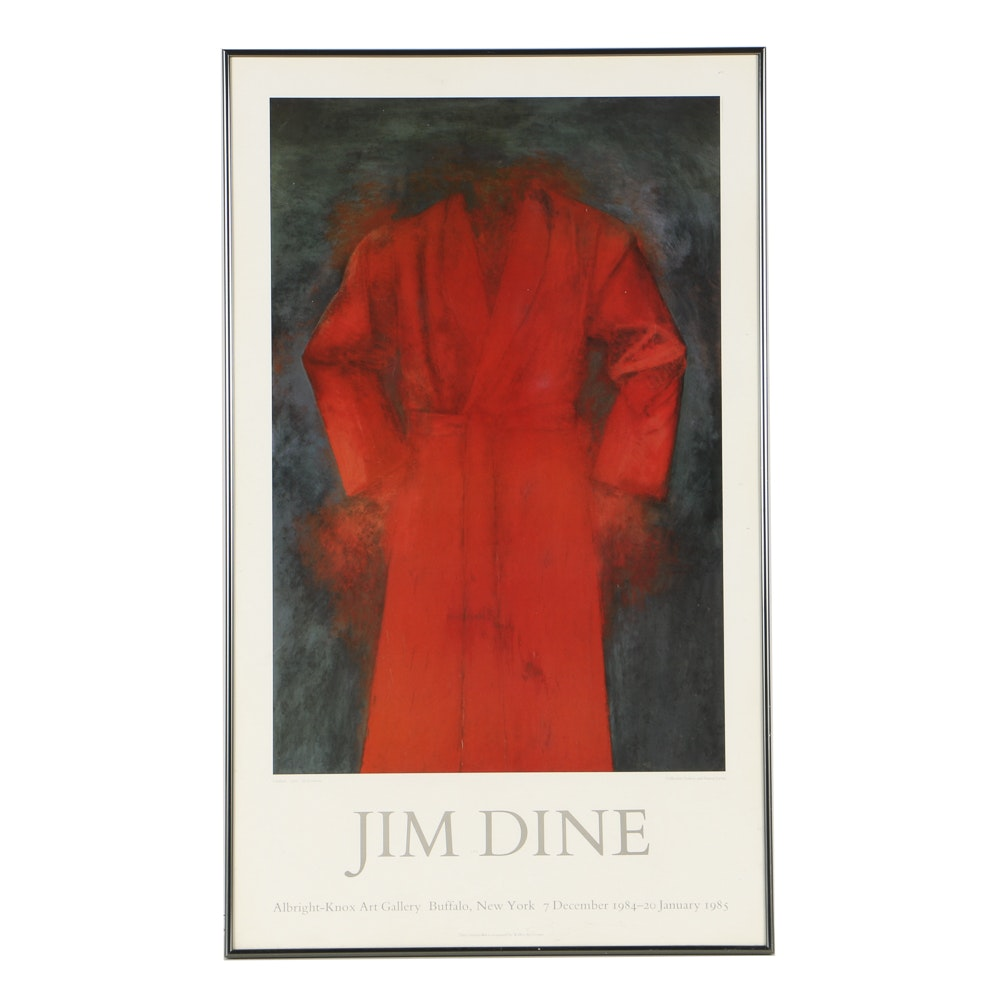 Offset Lithograph Poster for Jim Dine Exhibition
