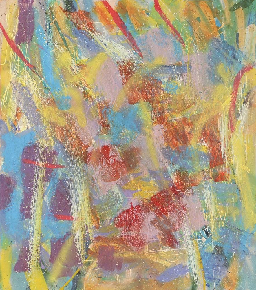 """Paul Findlay Oil and Acrylic Painting on Canvas """"Sea Script"""""""