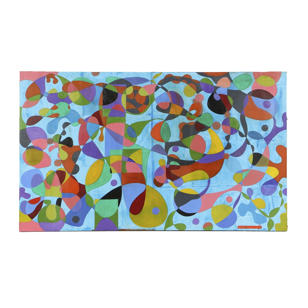Acrylic Painting on Canvas Abstract Composition