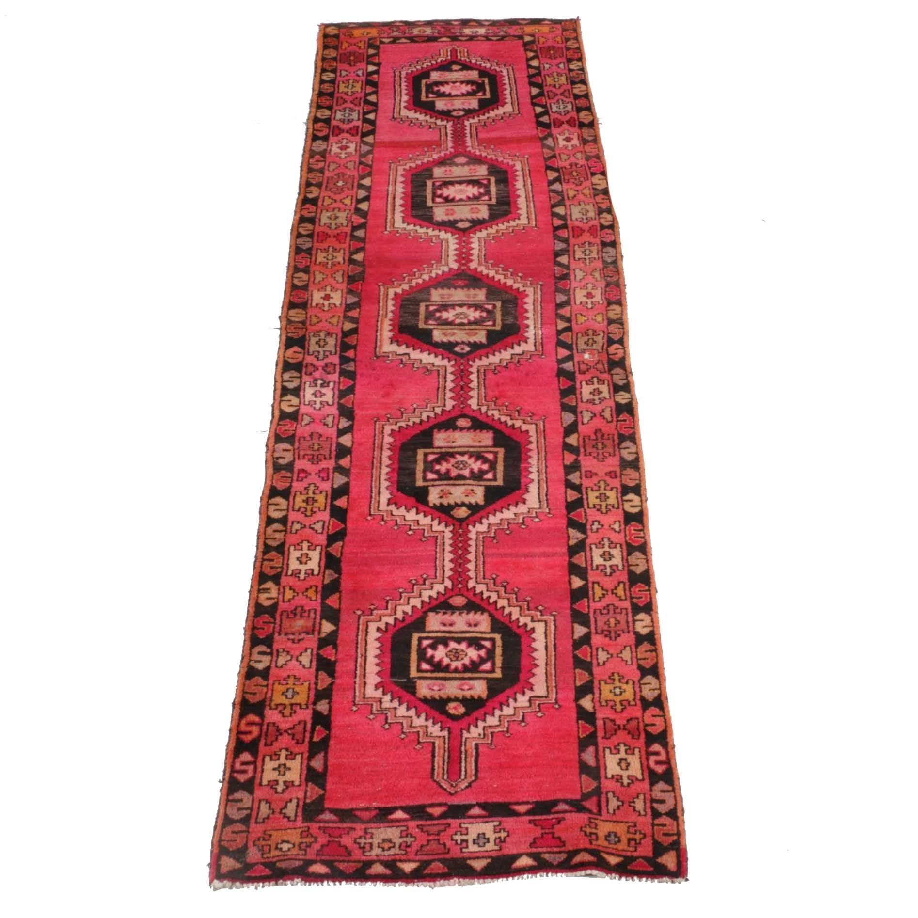 Hand-Knotted North Central Persian Kelardasht Rug Runner
