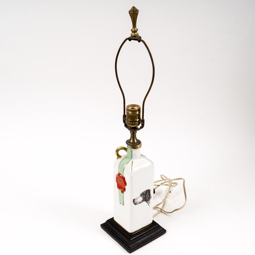 Vintage Handpainted Porcelain Lamp