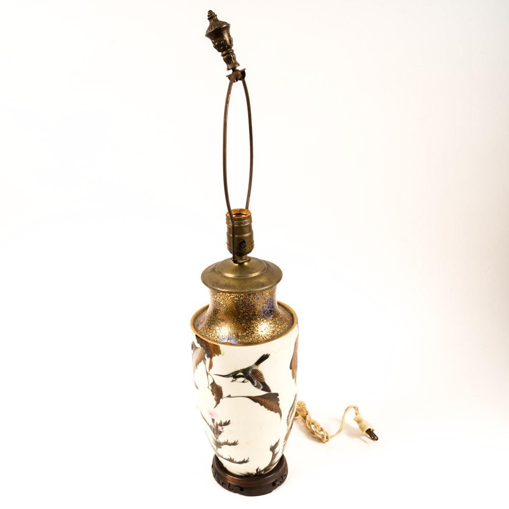 Asian Handpainted Porcelain Lamp