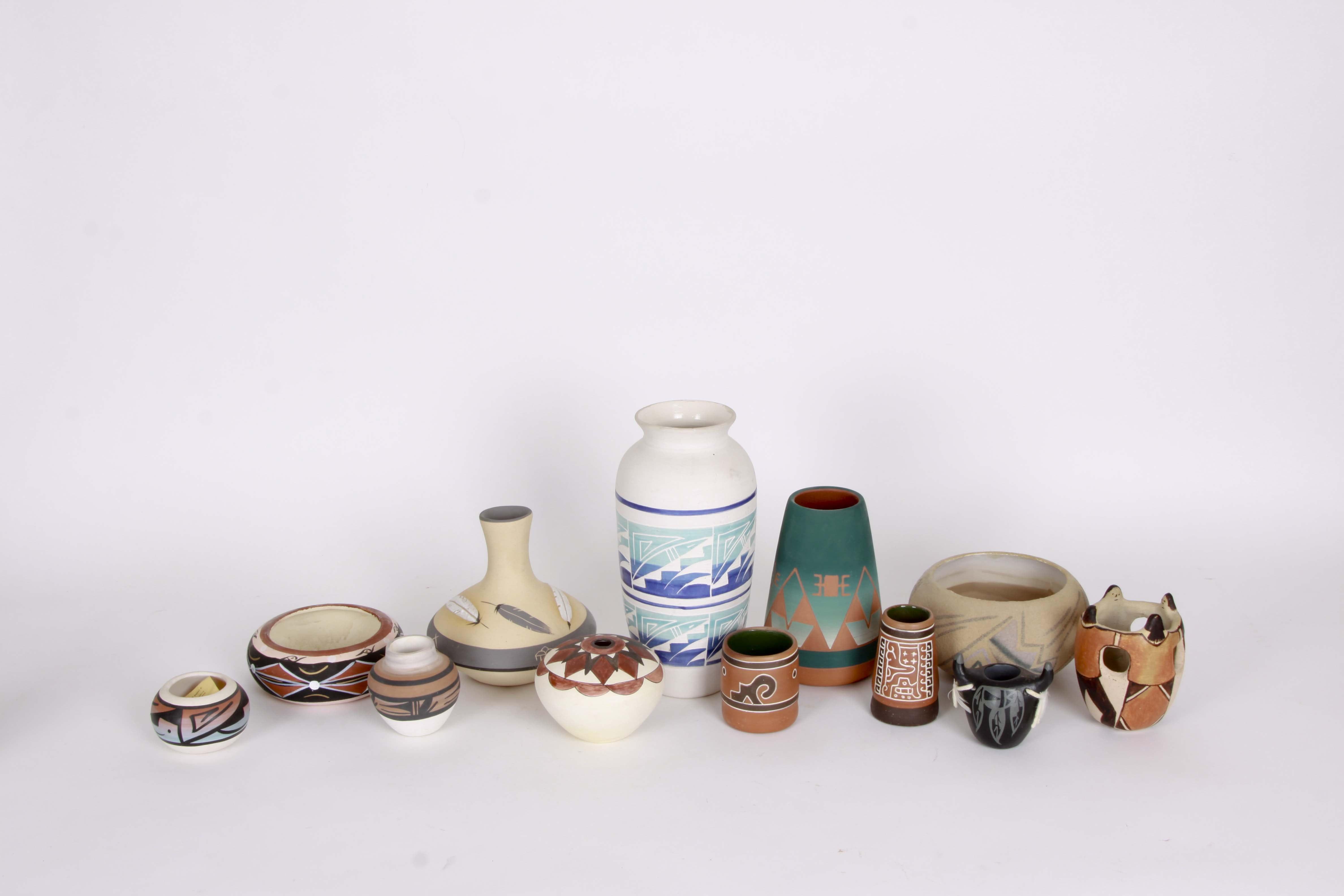Native American Pottery Assortment