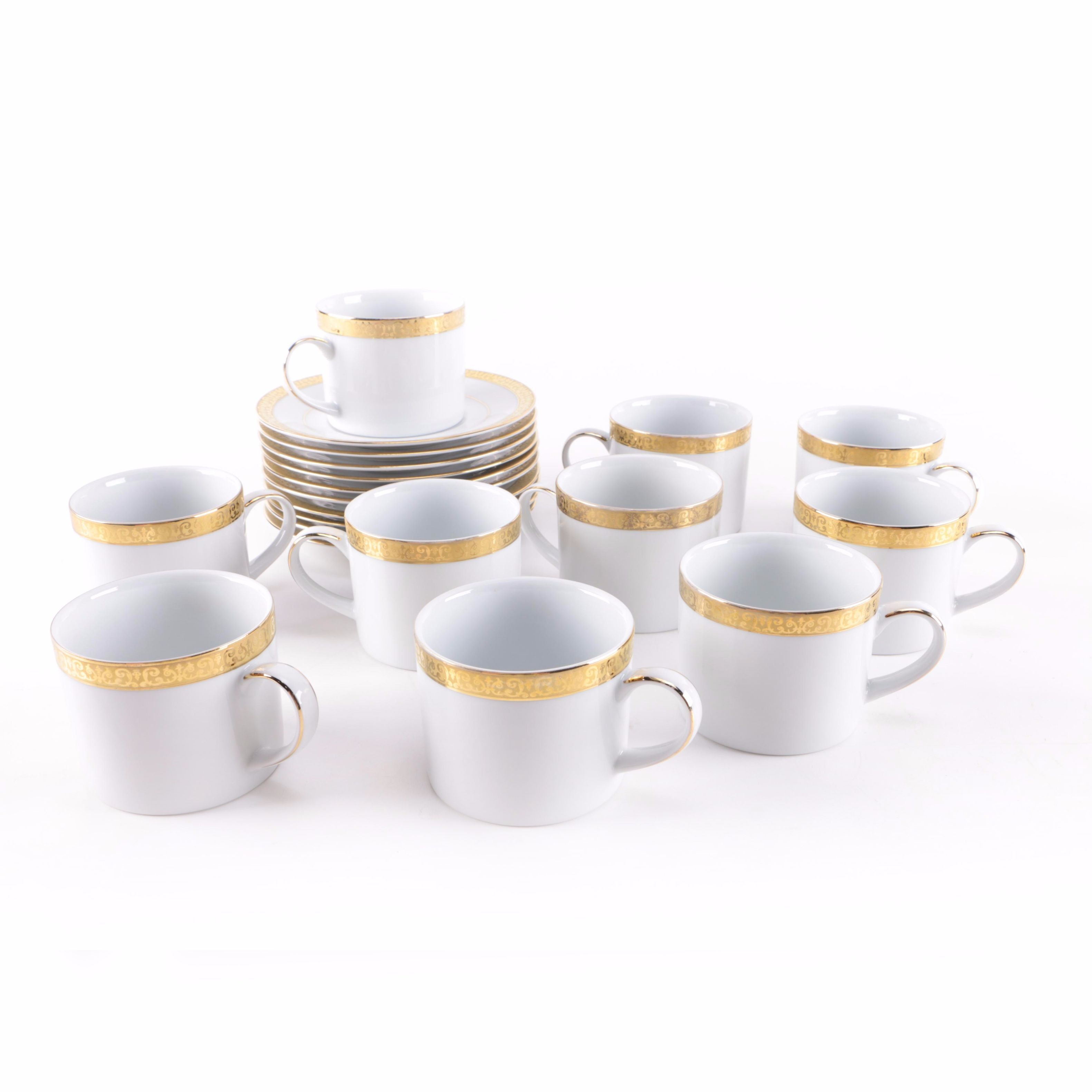 """Gold Buffet"" After Dinner Coffee Cup Set by Royal Gallery"