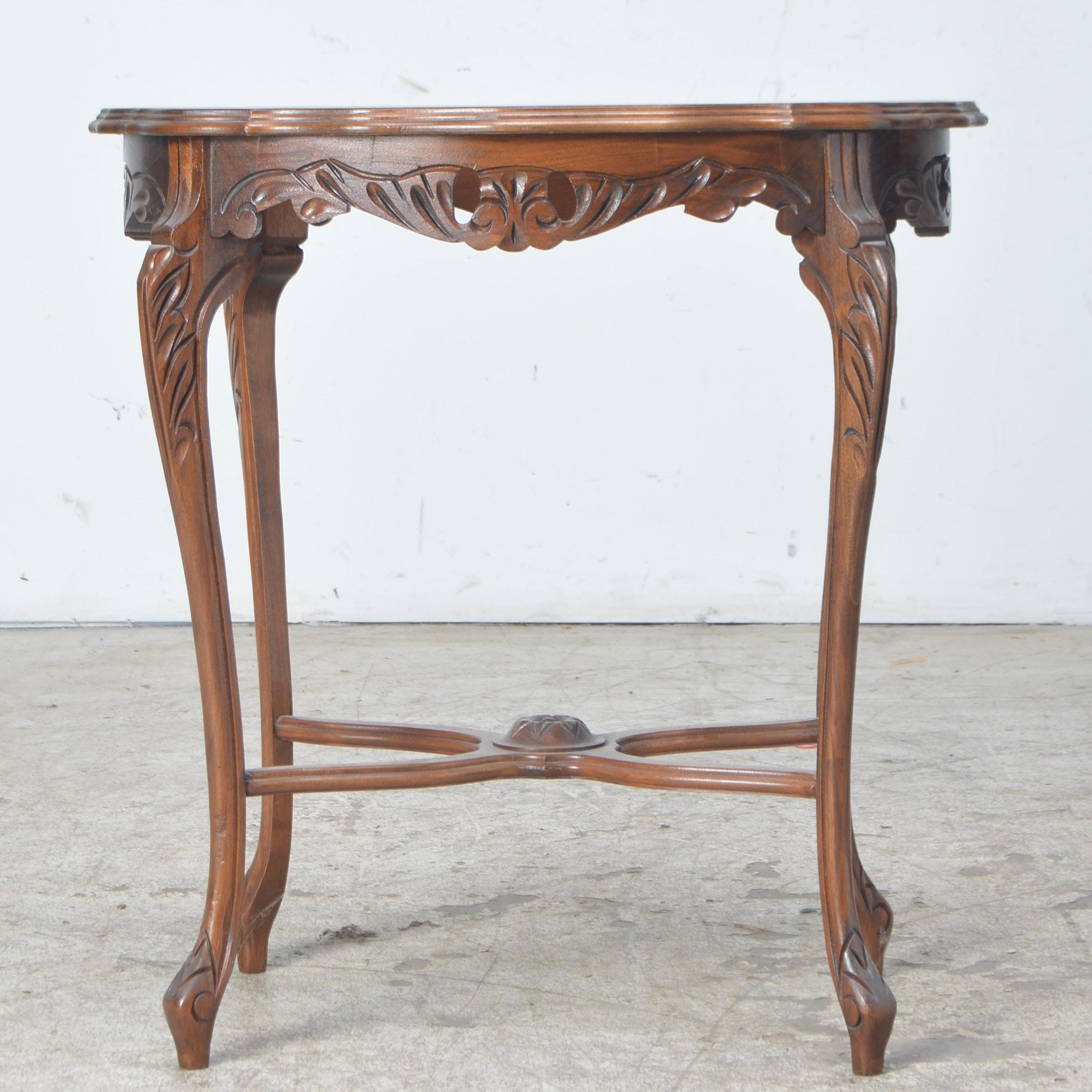 Antique Cherry Parlor Accent Table