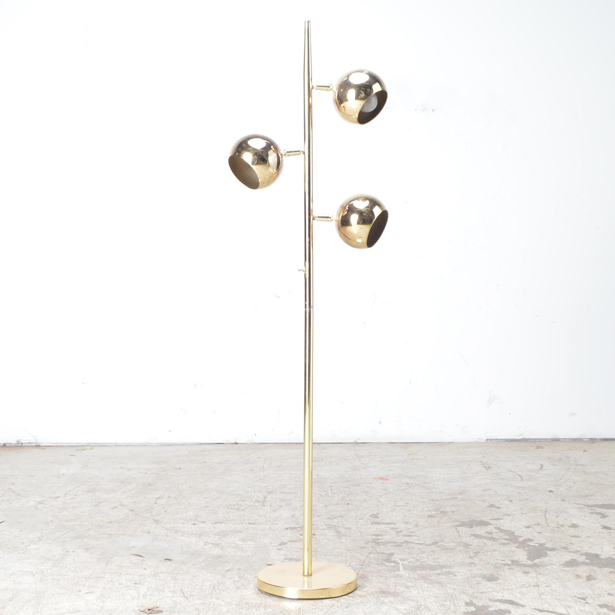 Mid Century Modern Globe Floor Lamp