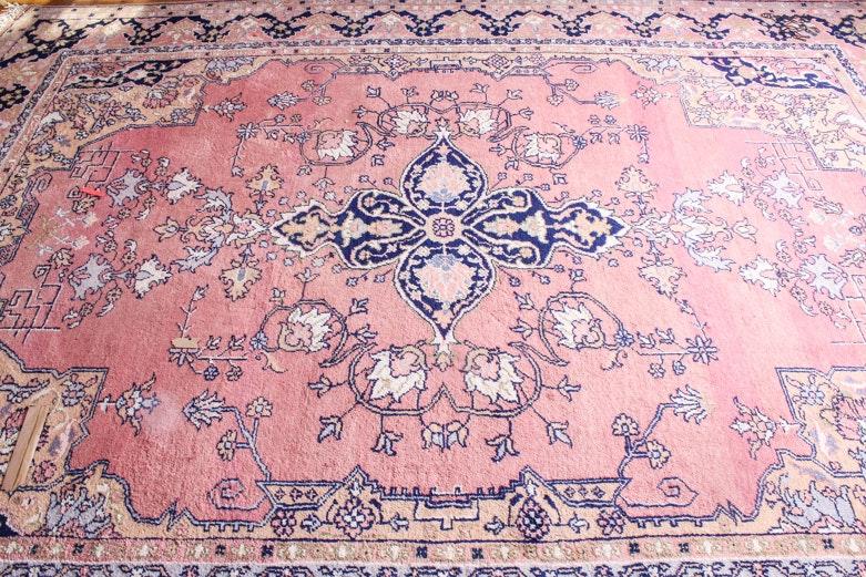 Vintage Hand-Knotted Turkish Isparta Area Rug