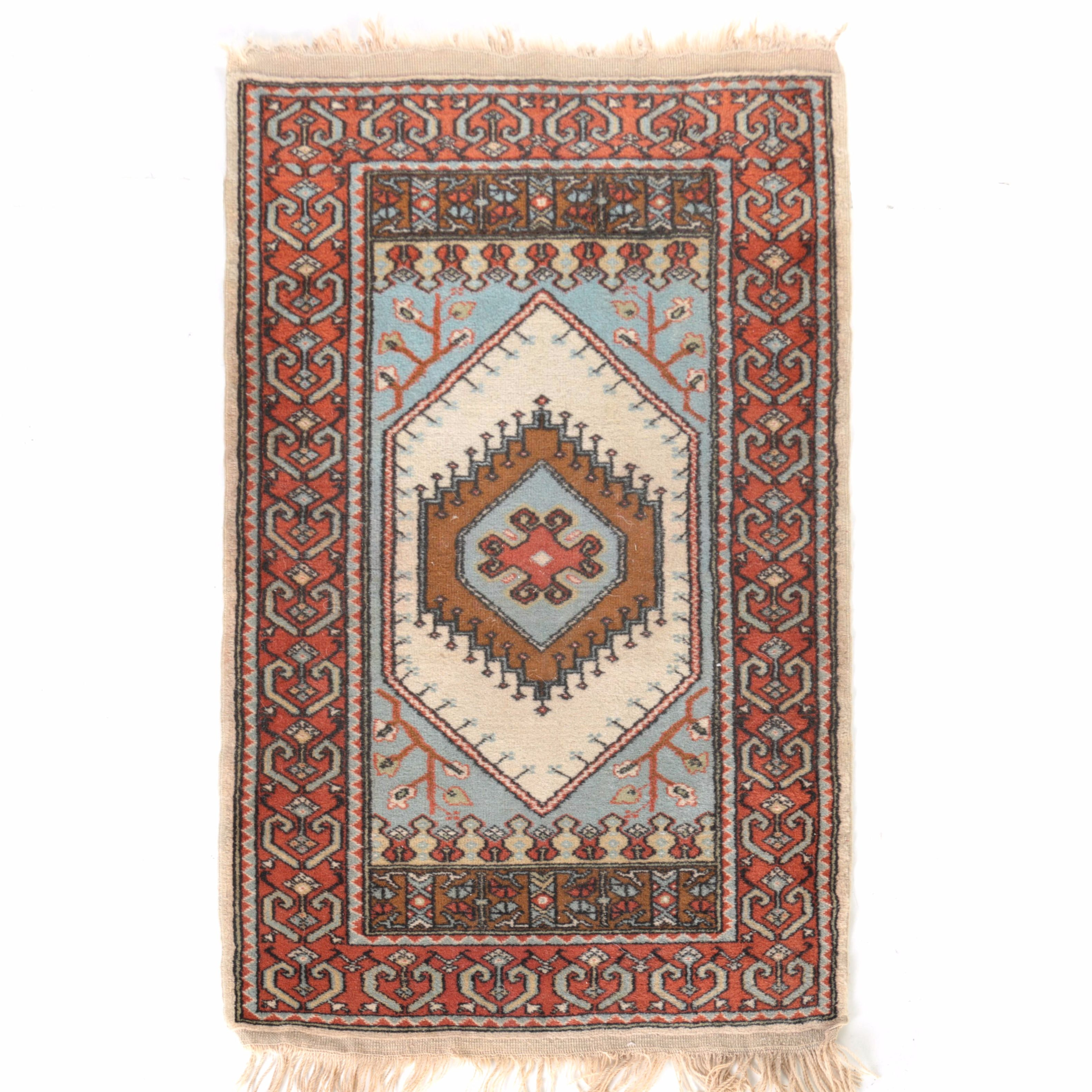 Hand-Knotted Turkish Accent Rug