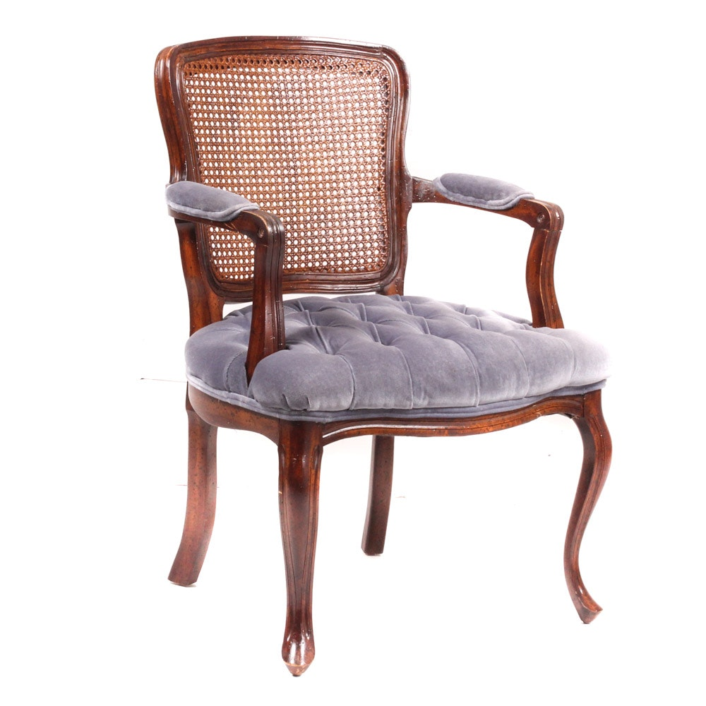 Louis XV Style Cane Back Fauteuil by Montgomery Furniture Co.
