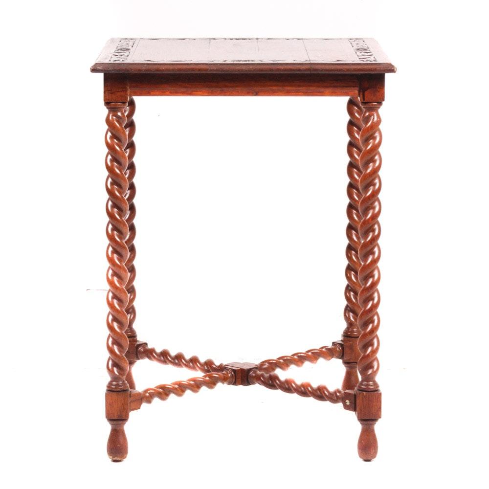 A Vintage Oak Side Table