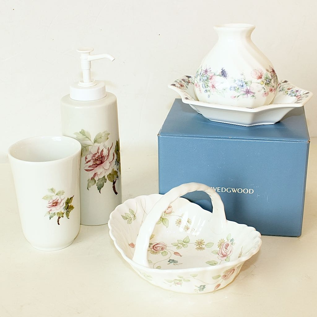 Wedgwood and Coordinating Hand Decorated Liete