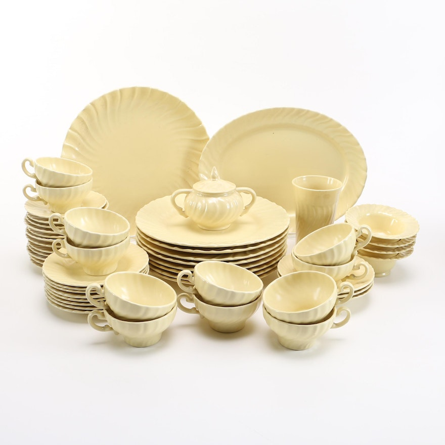 Set Of Light Yellow Franciscan Ware In The Coronado Pattern EBTH Adorable Franciscan Ware Patterns