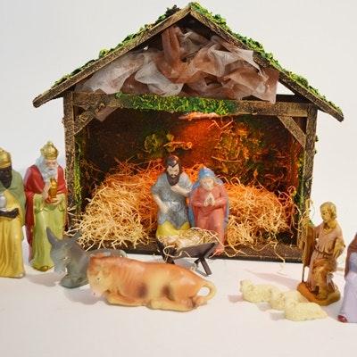 Vintage West Germany Nativity Set