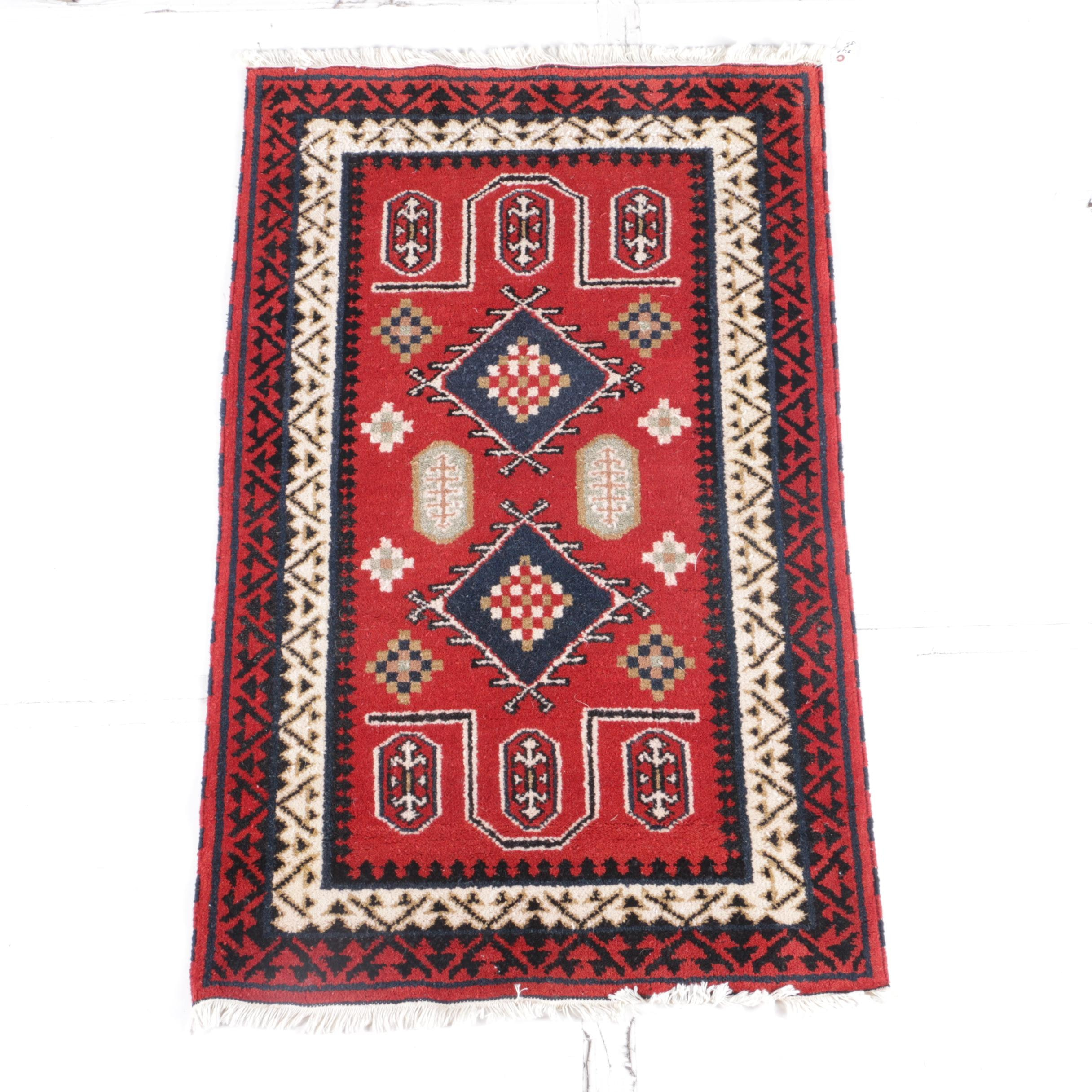 Hand-Knotted Indo-Caucasian Prayer Rug