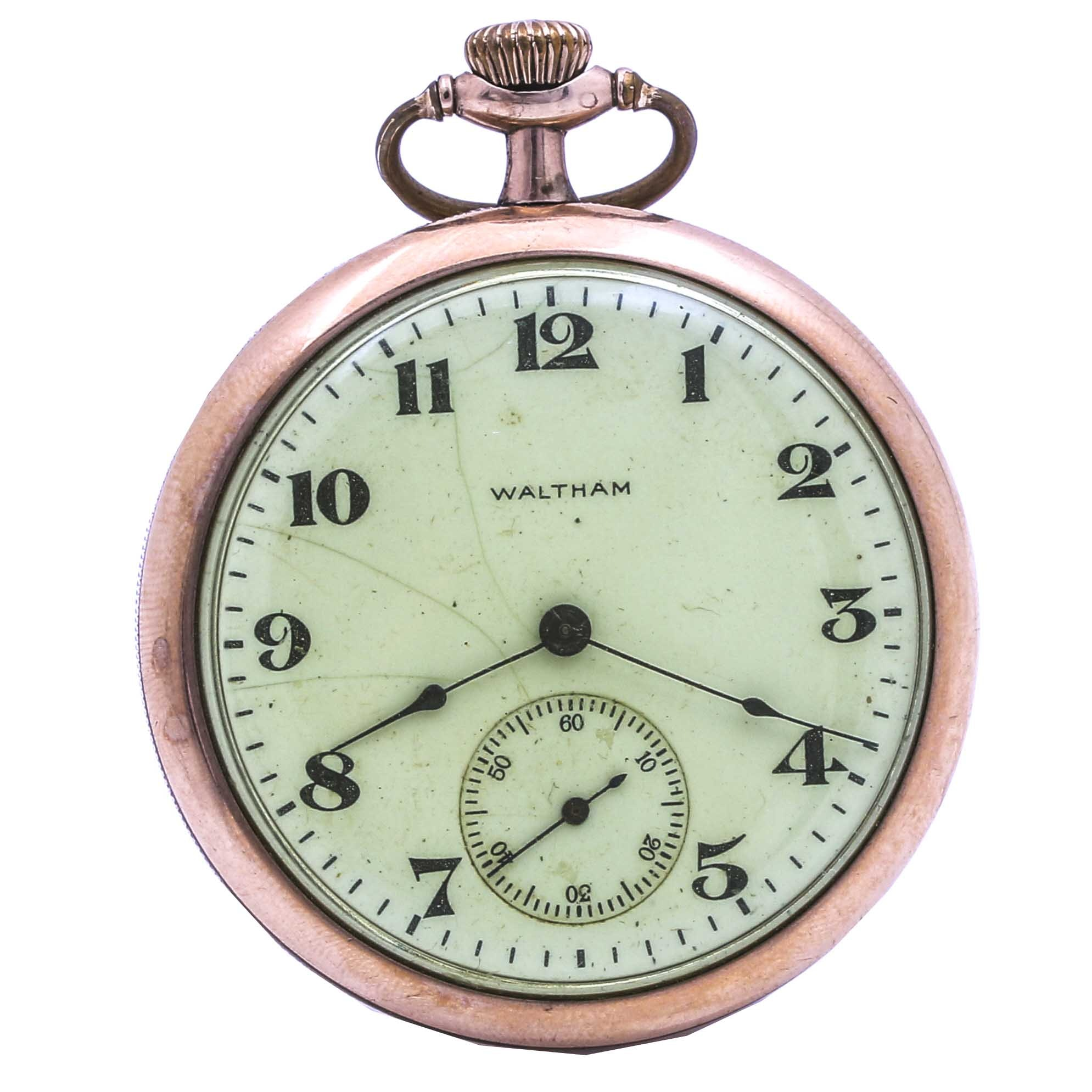 Waltham Gold Filled Open Face Pocket Watch