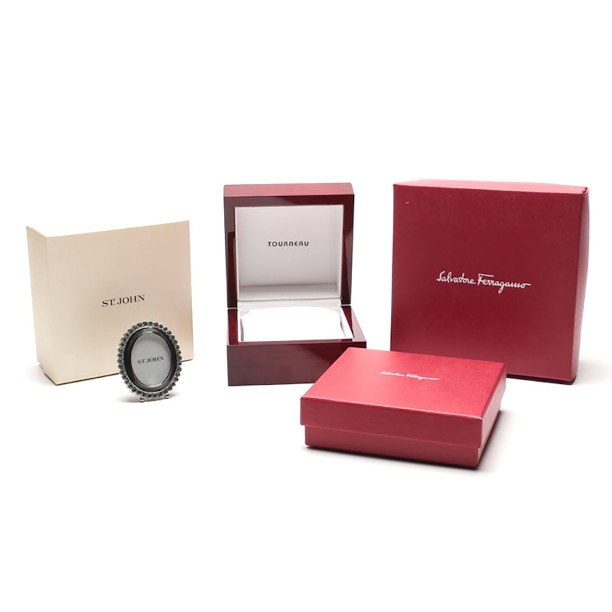 Jewelry Presentation Boxes includes Ferragamo and St  John Picture Frame