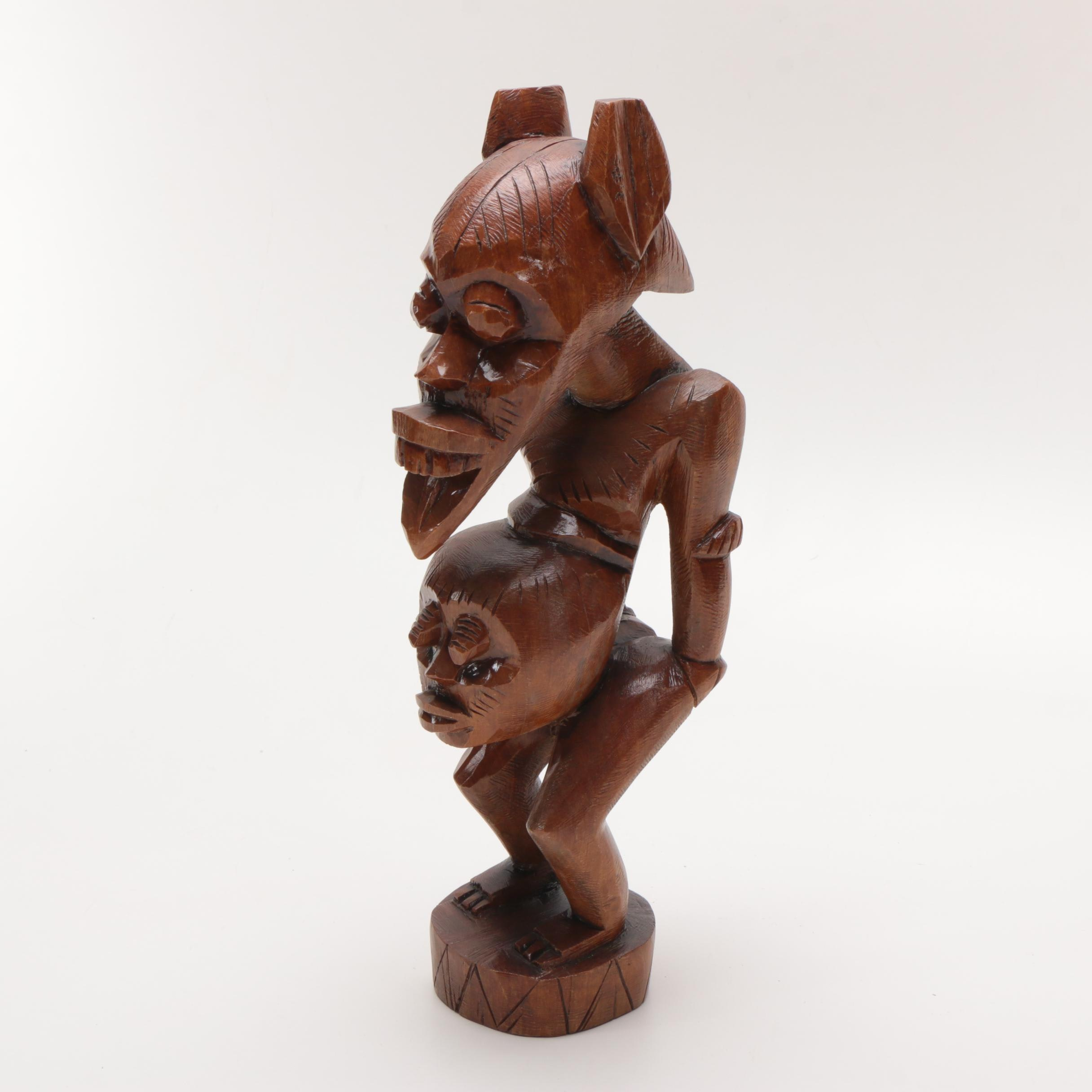 Carved Wood African Fertility Sculpture