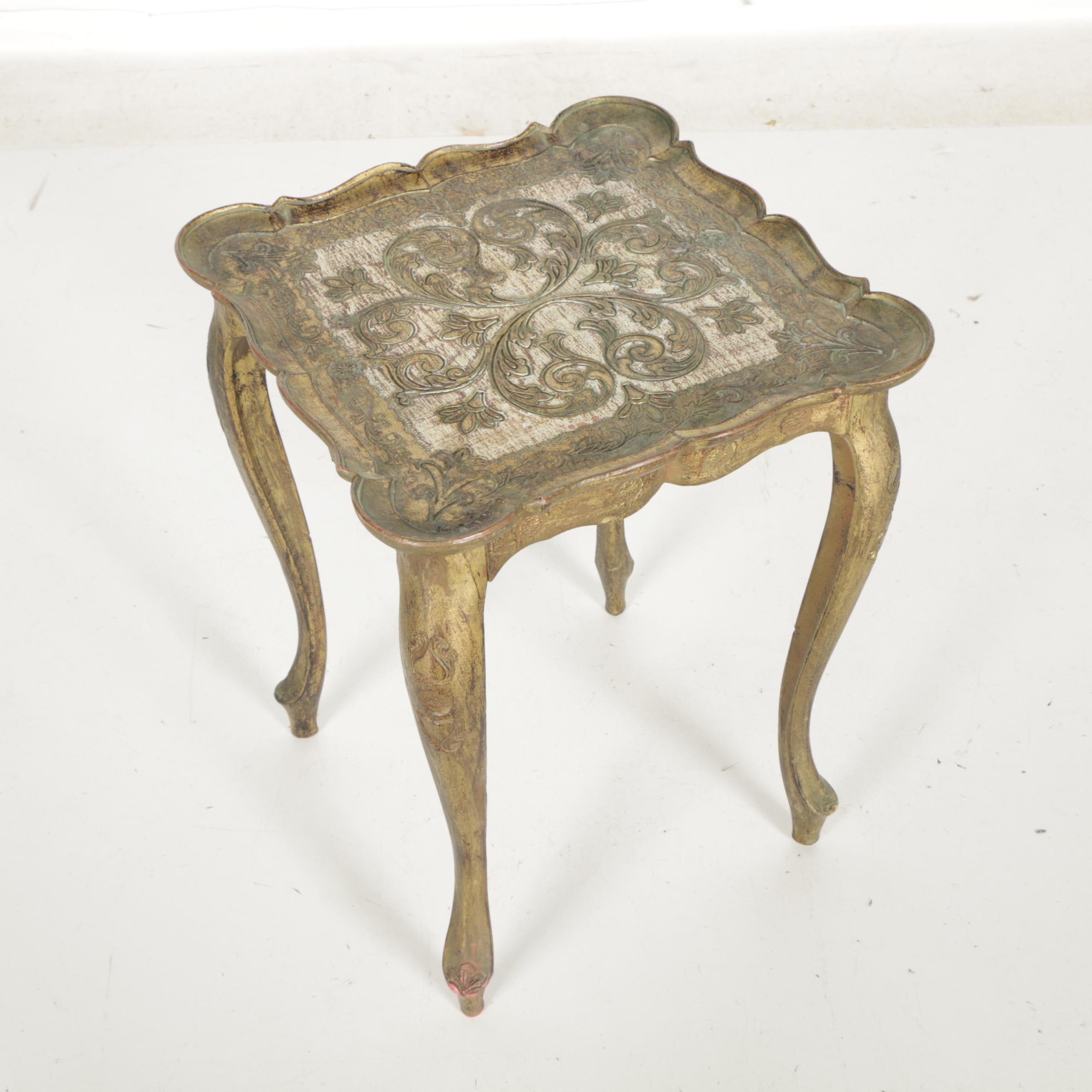 Italian Louis XV Style Side Table by Busa