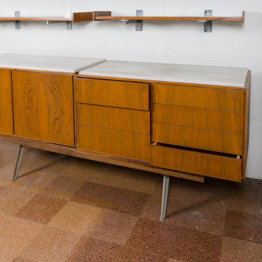 Mid century modern modular console table ebth for Mid century modern prefab homes