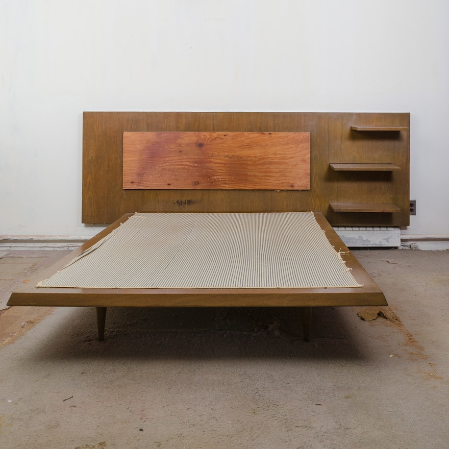 Mid Century Modern Headboard And Queen Size Bed Ebth