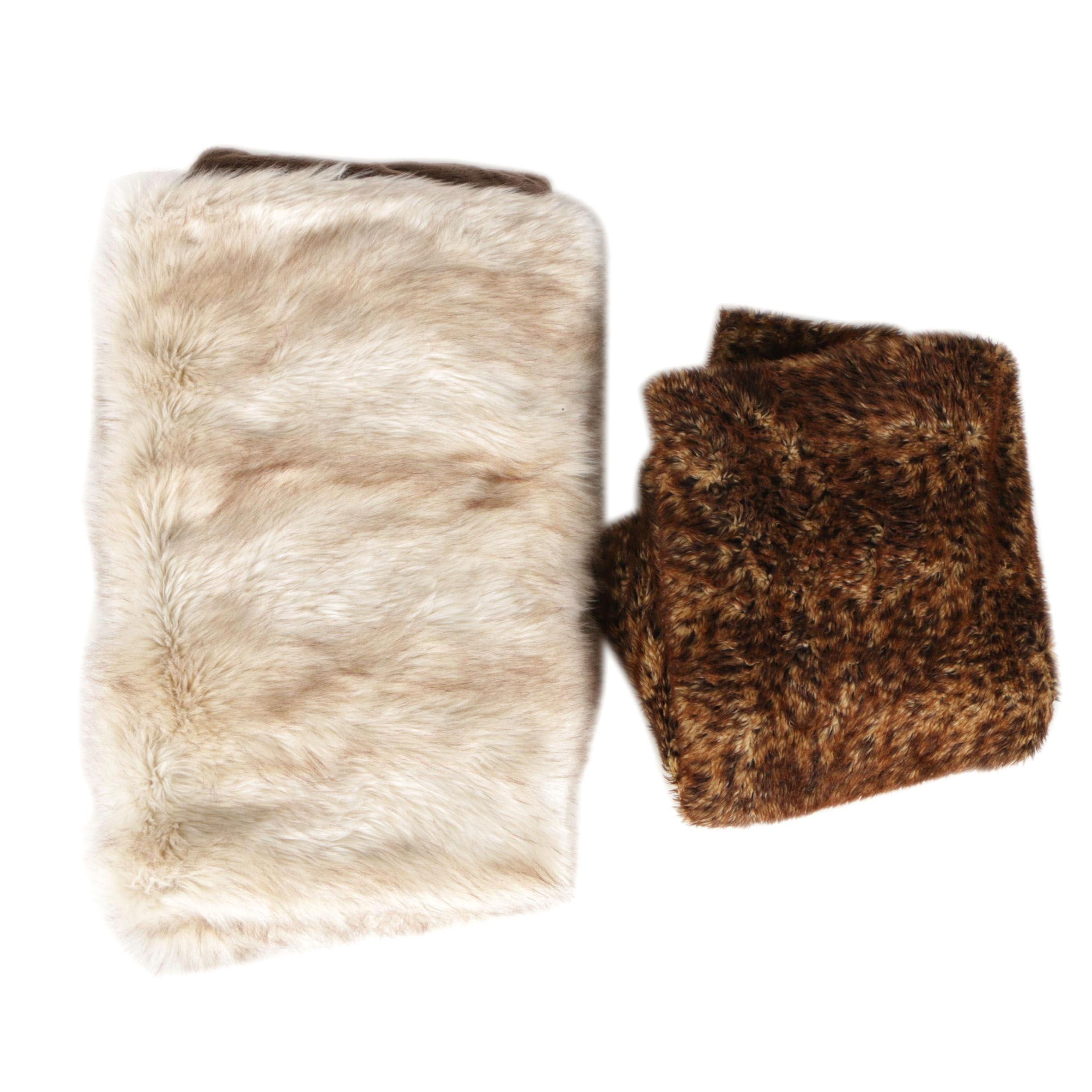 Two Faux Fur Blankets