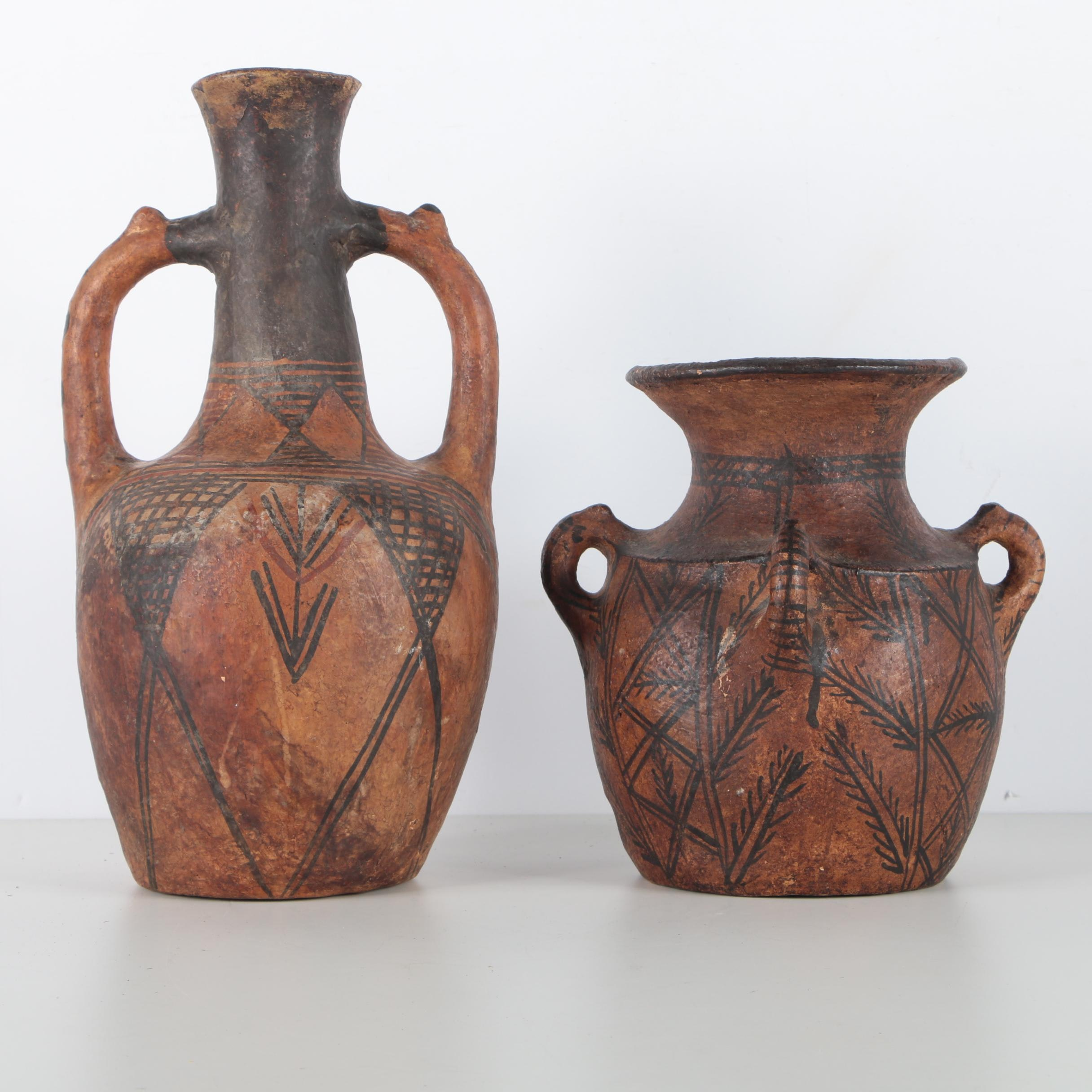 Pair of Hand Painted Ceramics