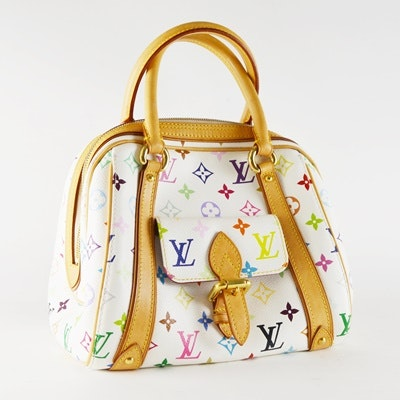 "Louis Vuitton ""Priscilla"" White/Multi Monogram Satchel"