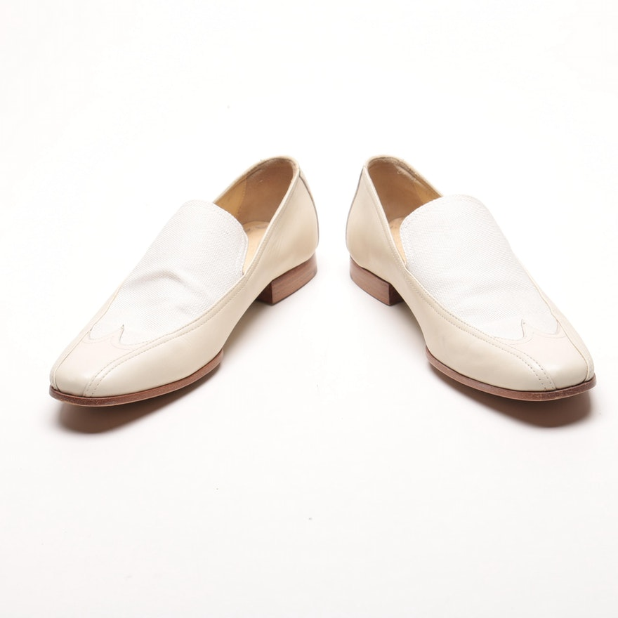 548a224c997 Gucci Women s Leather and Canvas Loafers   EBTH