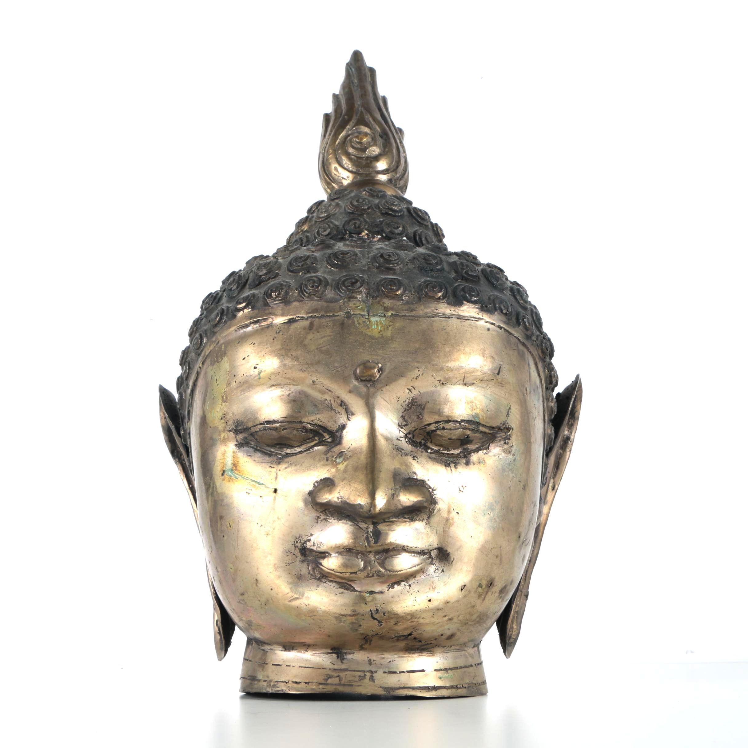 Brass Sculpture of Buddha's Head