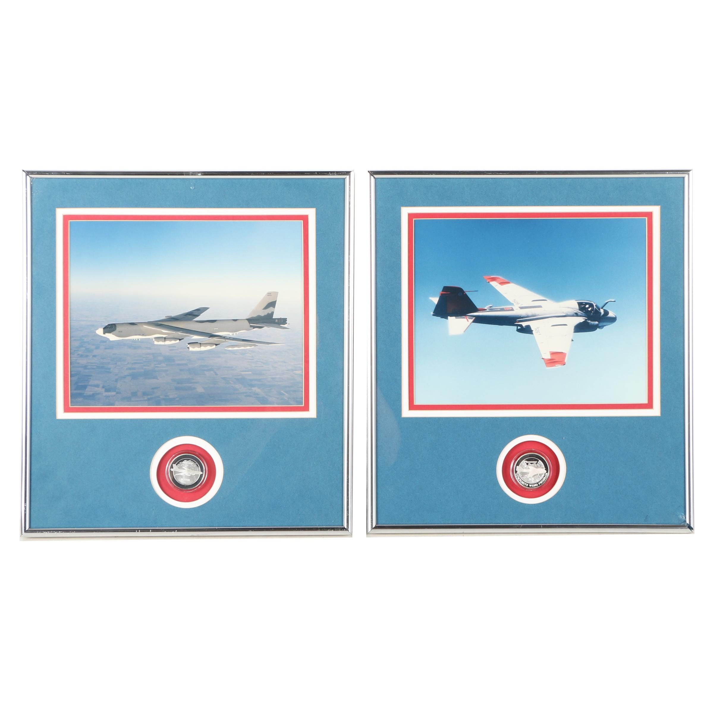 Two Framed Color Photographs of Boeing Aircraft