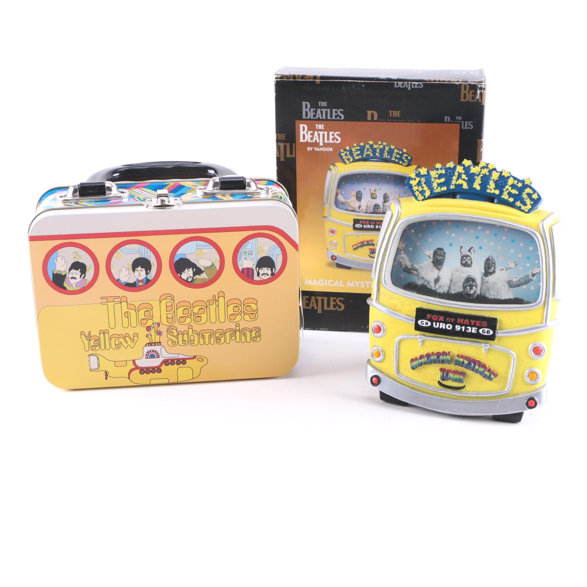 The Beatles 'Yellow Submarine' Lunchbox and 'Magical Mystery Tour' Photo Frame