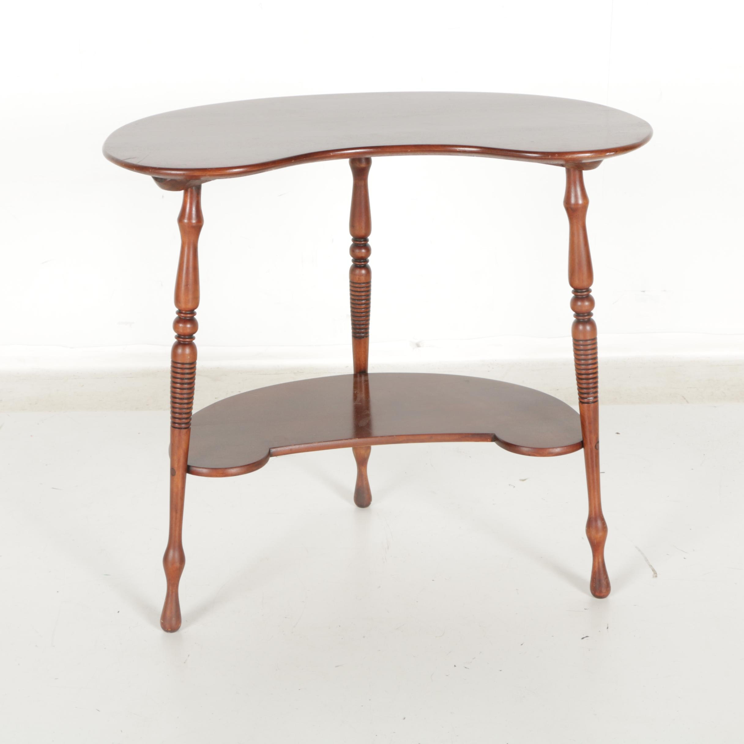 Reniform Two-Tier Occasional Table