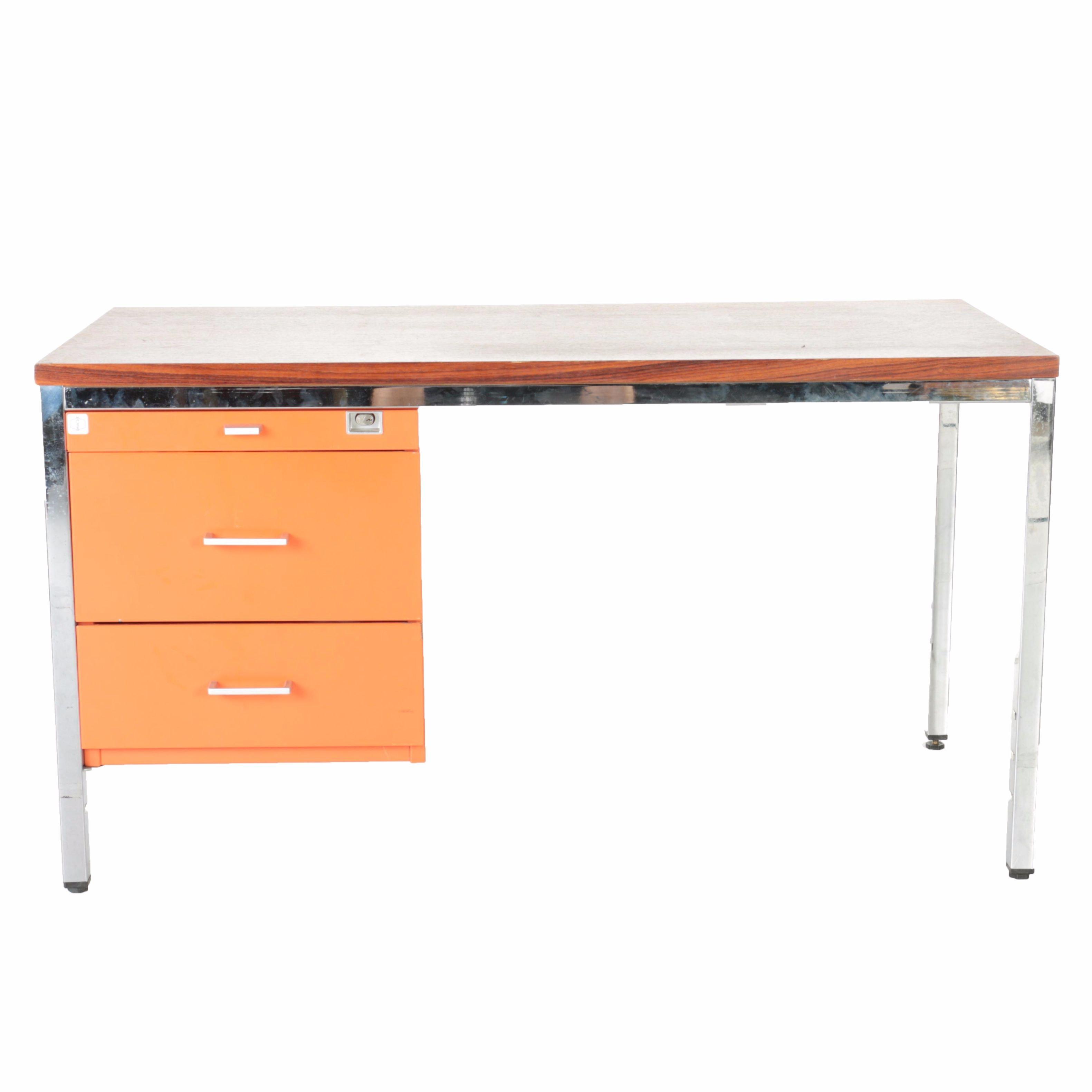 Important Mid Century Modern Desk Designed by Marcel Breuer for Mauser Werke