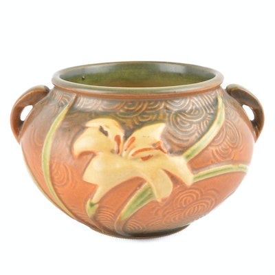 roseville zephyr lily jardinere - Home Decor For Sale