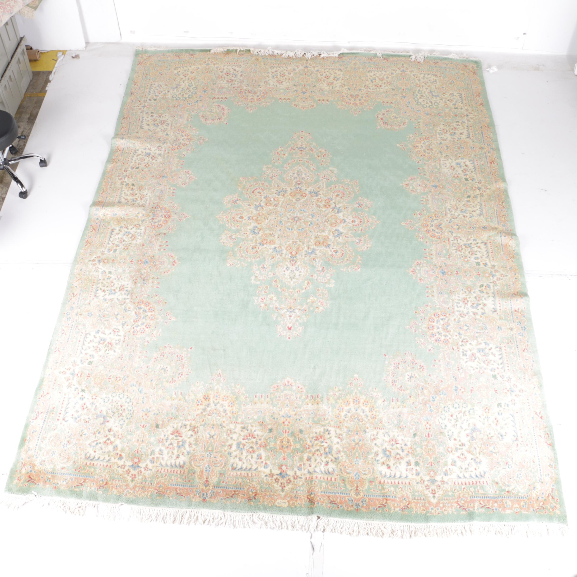 Large Hand-Knotted Persian Kerman Area Rug