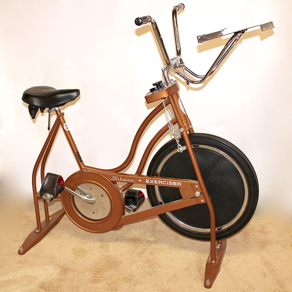 """Vintage Schwinn """"Exerciser"""" Bike in Copper Color"""