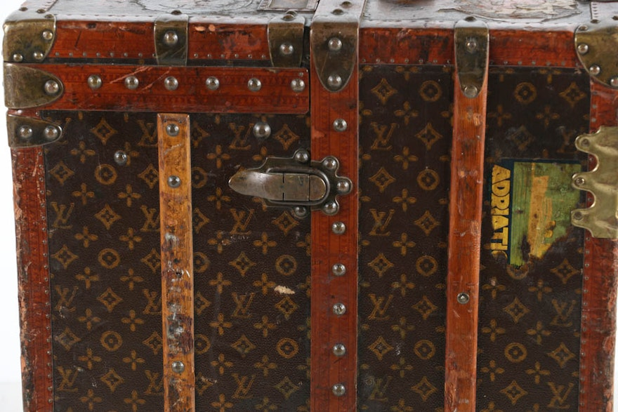 Louis Vuitton Antique Steamer Trunk With Interior Compartments Ebth