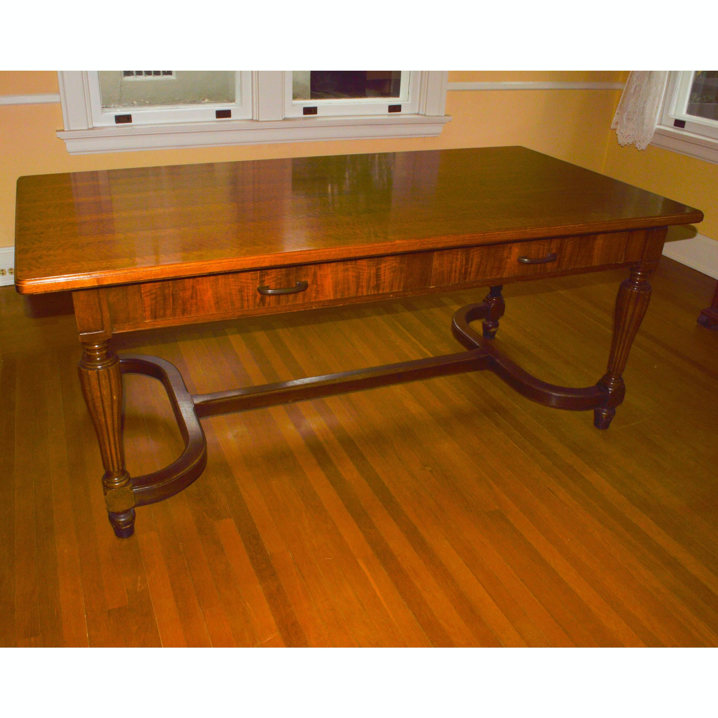 Library Trestle Table