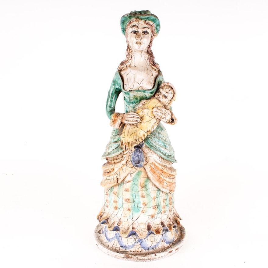Antique Italian Terracotta Statue