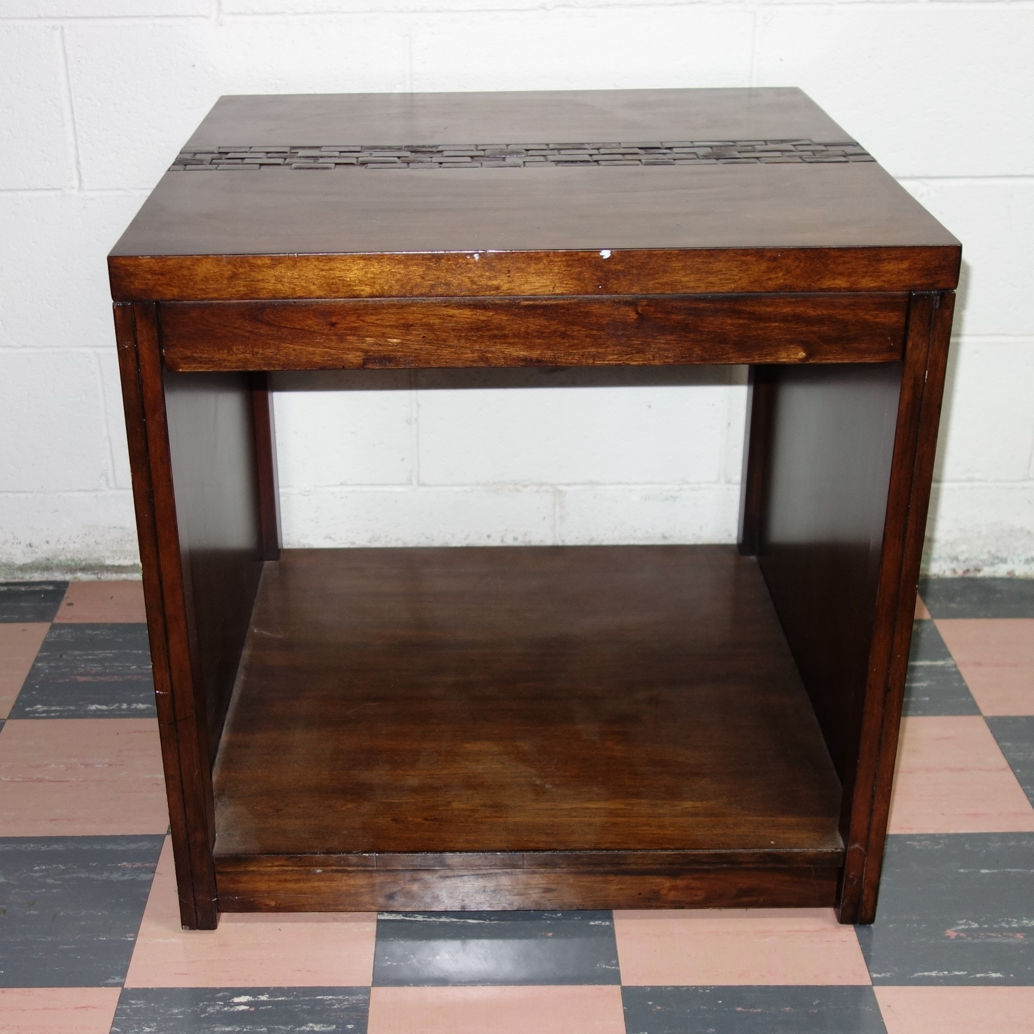 Square Mid Century End Table