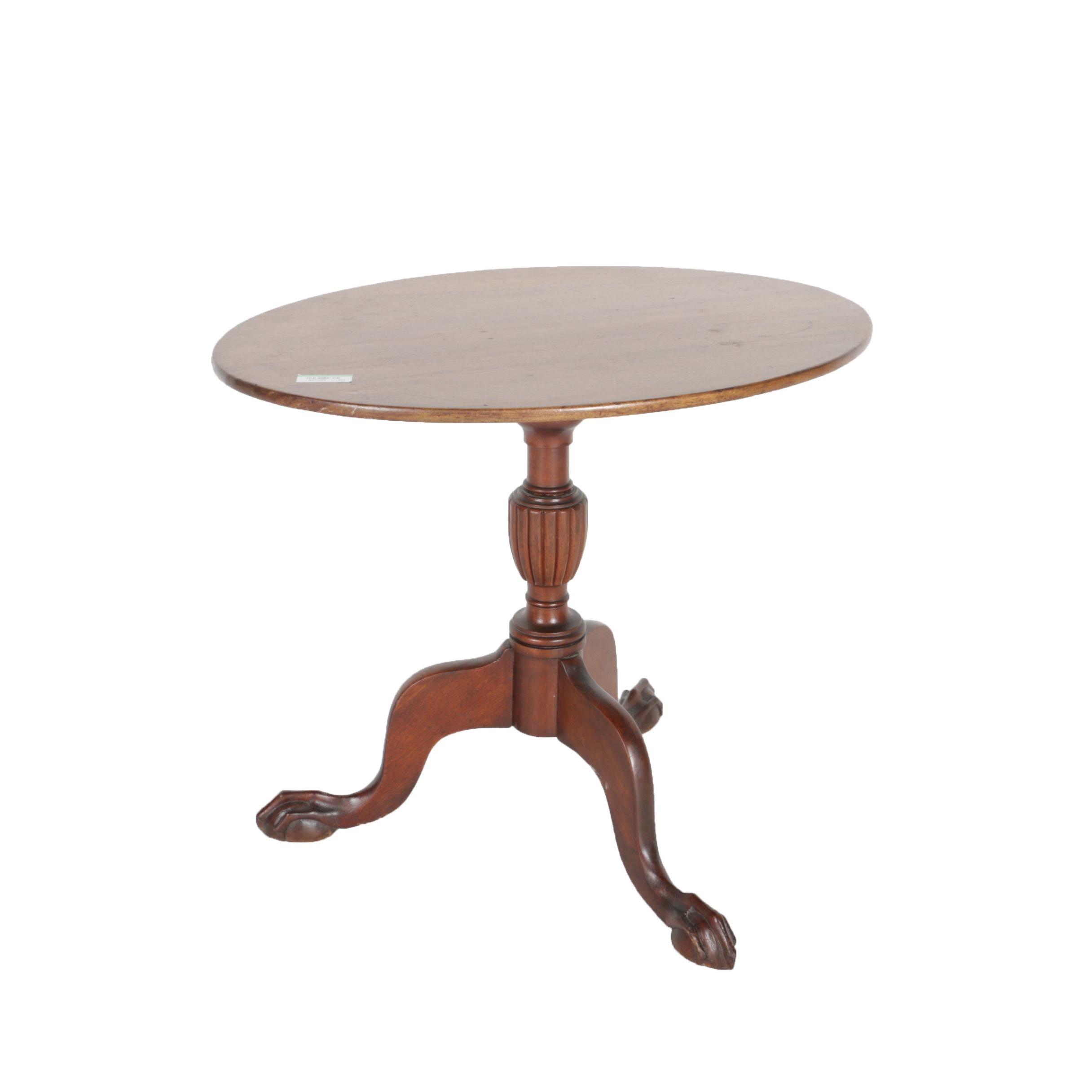 Vintage Mahogany Tilt Top Table