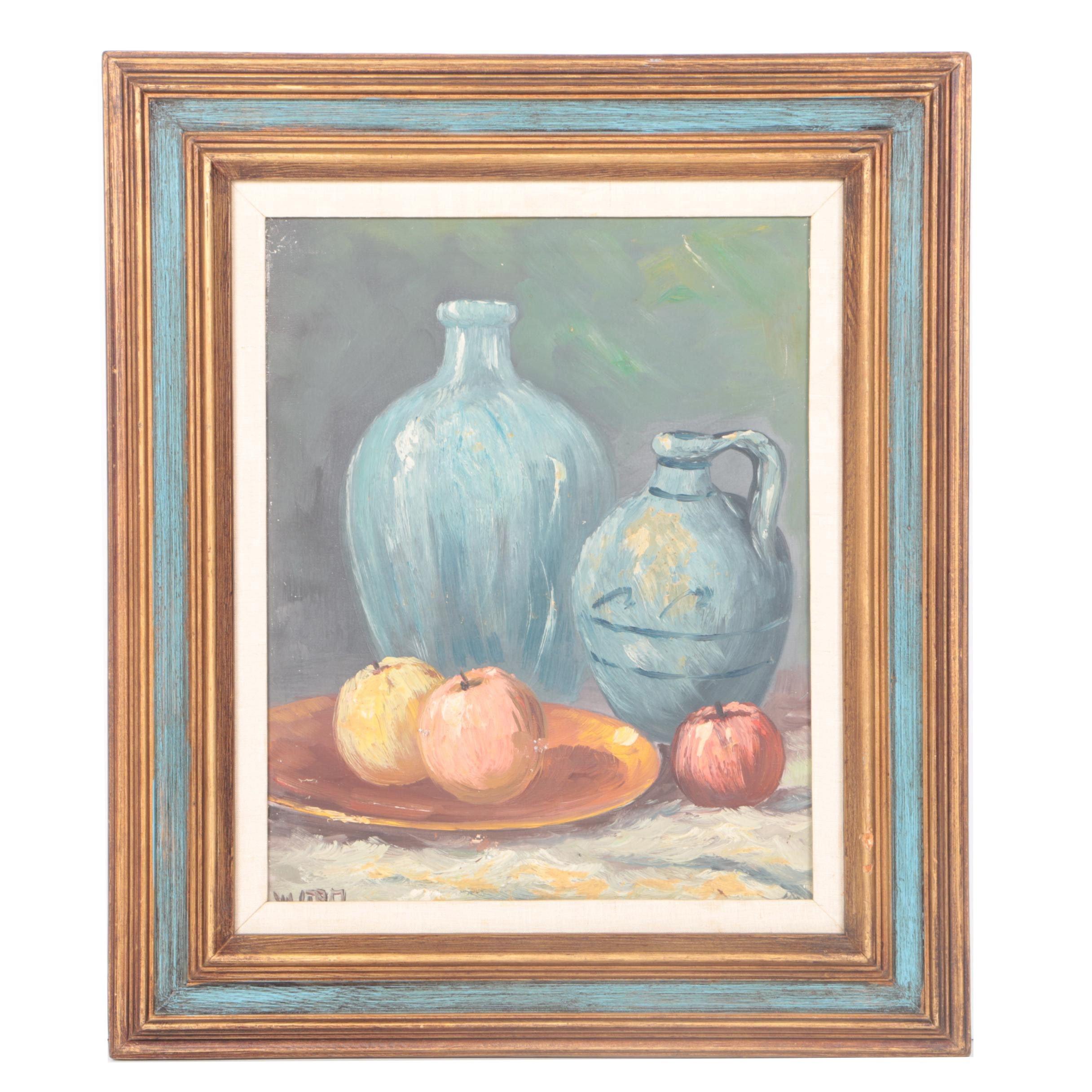 Willem Stam Oil on Canvas Still Life