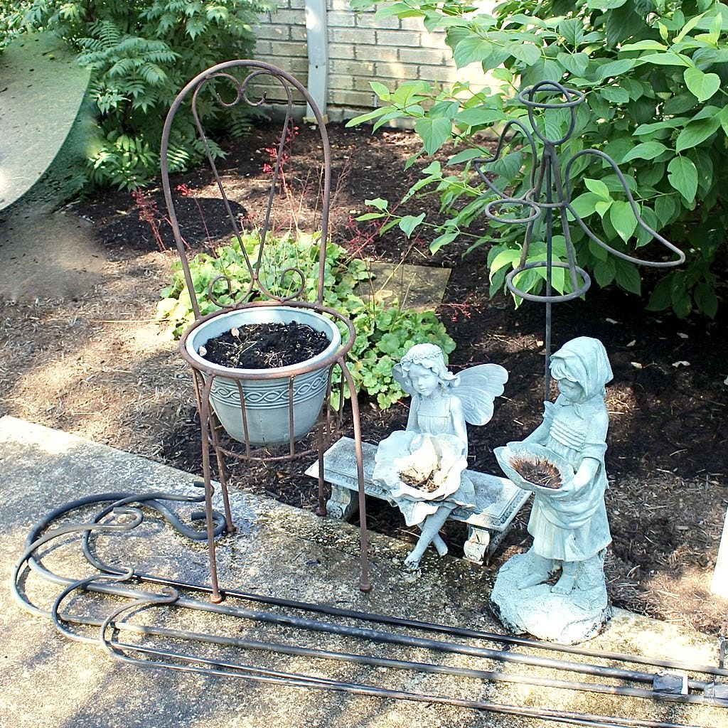 Garden Ornament Assortment includes Seated Angel