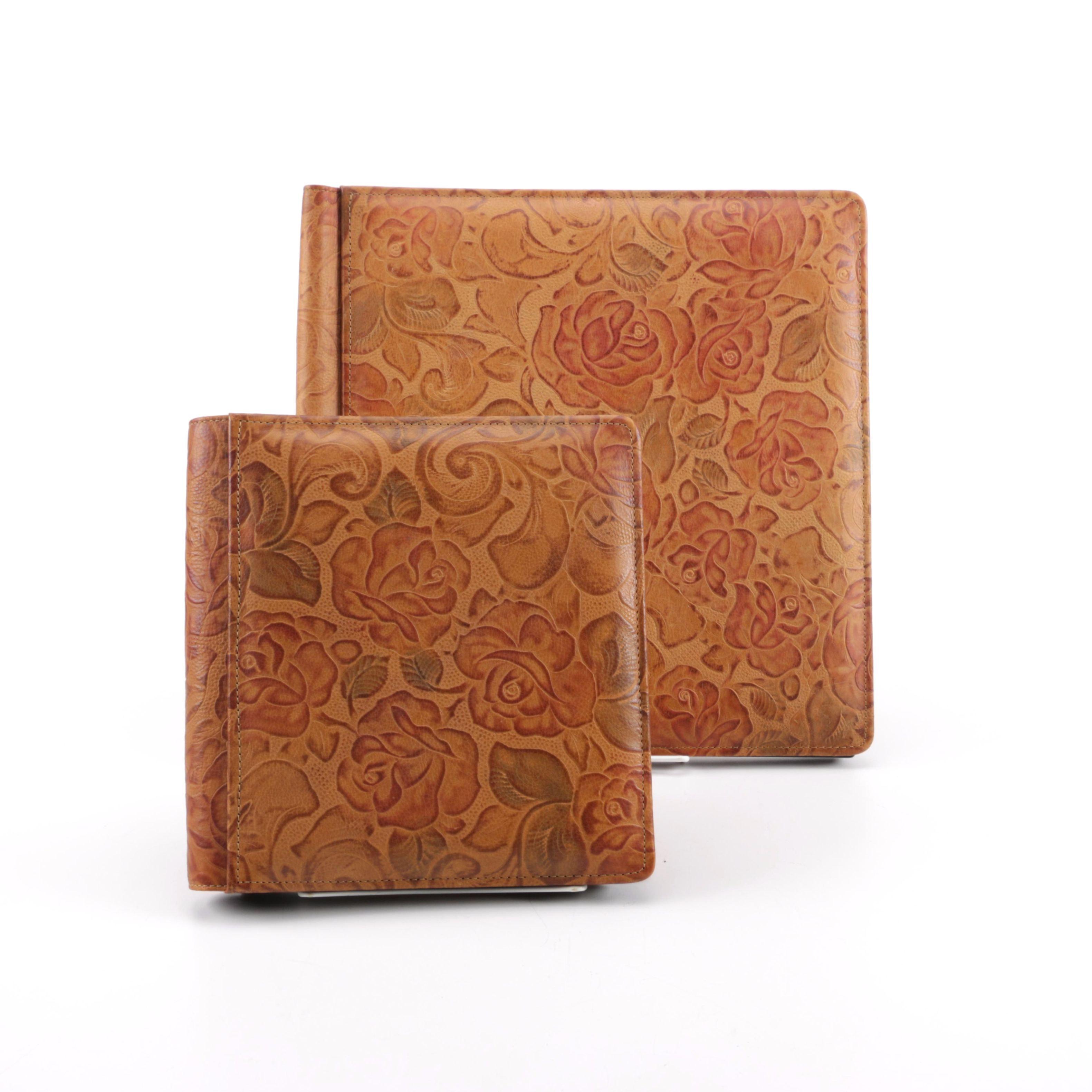 Pair of Raika Leather Photo Albums