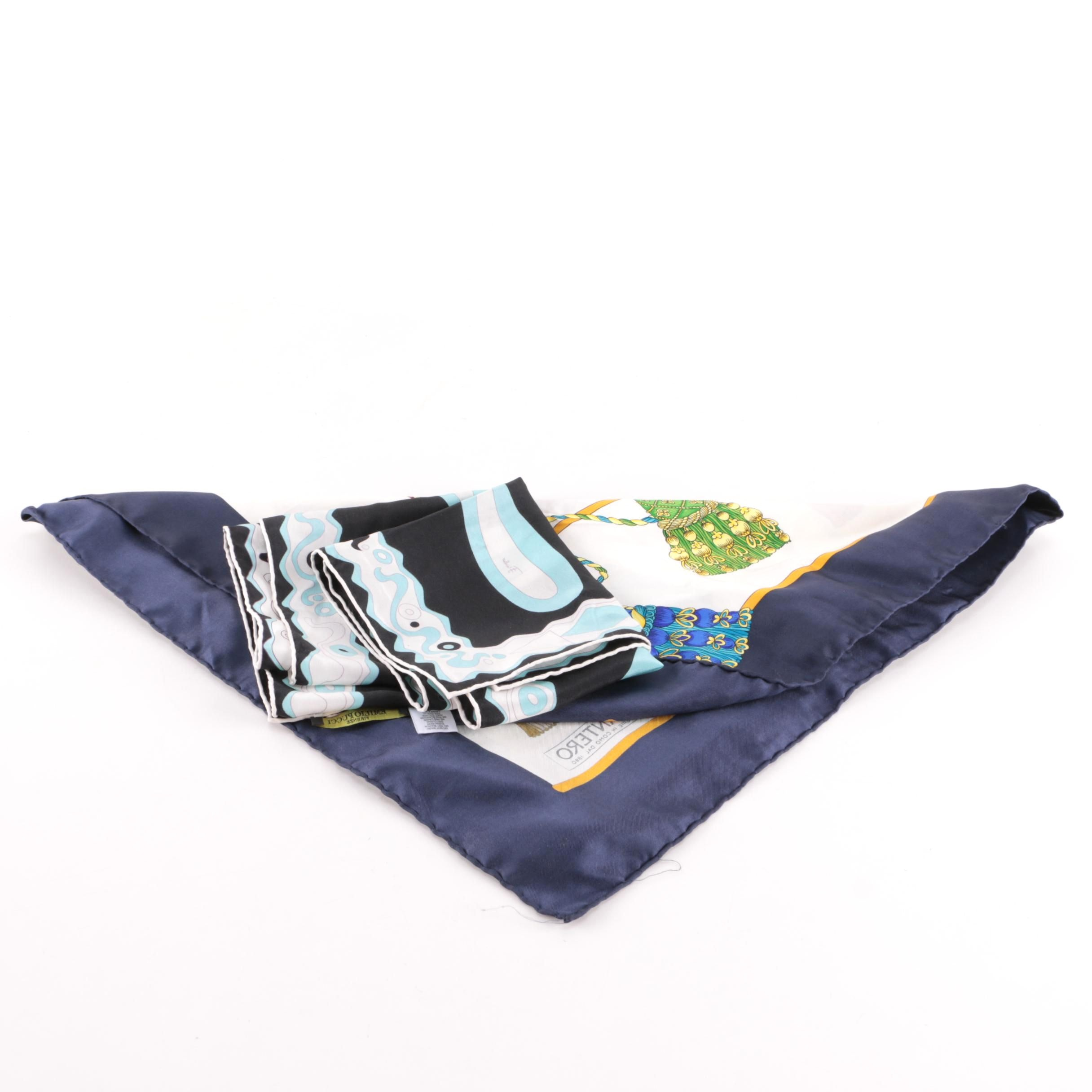 Emilio Pucci and Mantero Silk Scarves