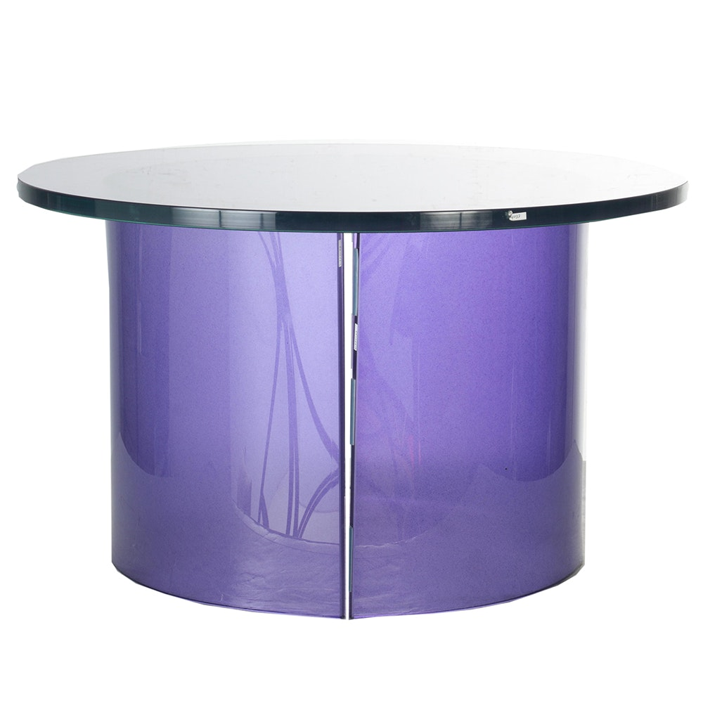 Lilac Glass Occasional Table
