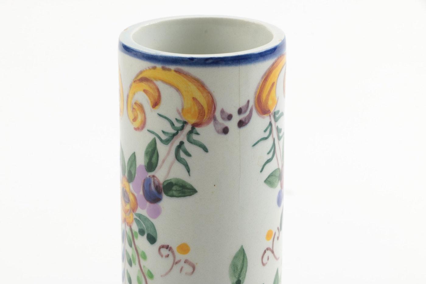 Hand Painted France Mustard Jar